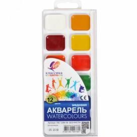 Краска акварельная медовая ЛУЧ Классика 12цв. пластик упаковка без кисточки