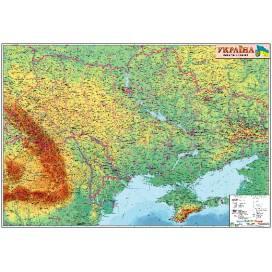 Карта ИПТ Украины физика 1:1 250 000 (110х80) картон