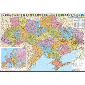 Карта ИПТ Украины полит. 1: 1 250 000 (110*80) картон/планки