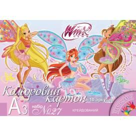 Кольоровий картон для дитячої творчості 1 вересня 950523 А3 10л мелованный №27