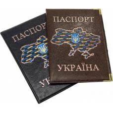 Обложка док Luxon паспорт Украины кожзам цвет микс ШК....1327