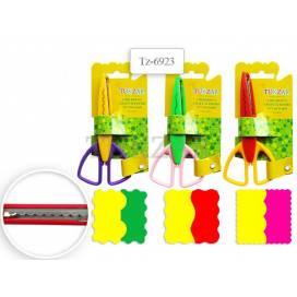 Ножницы детские Tukzar 6923 фигурные лезвия, пластиковые ручки