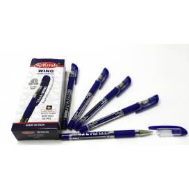 Ручка KrishA+ масл Wing 1мм grip синяя