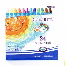 Цветные карандаши для рисования восковые Marco 24цв 1100ОР-24СВ