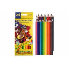Цветные карандаши для рисования Marco 24цв. 1010-24CB Пегашка