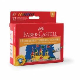 Набор гуашевых красок для школы, садика, детского творчества Faber темпера 12цв 15мл 161112