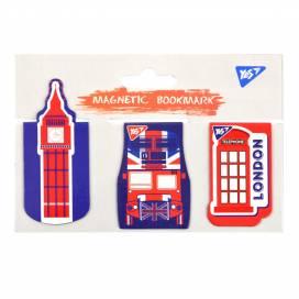 Закладки YES магнитные 707004 London 3 шт