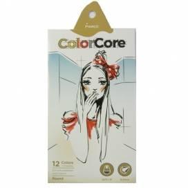 Цветные карандаши для рисования Marco 12цв. 3130-12CB ColorCore круглые d=4.00 +1графит