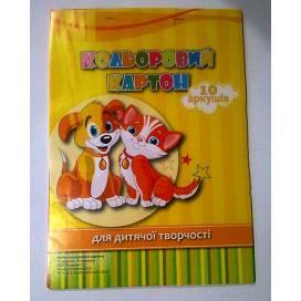 Кольоровий картон для дитячої творчості A+ 10л (9л+серебро)