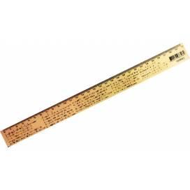 Линейка деревянная Мицар 30см физика 103042