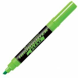 Текстовыделитель Centropen 8542/04 Flexi скошеный 1-4,6мм флюорисц зелёный (гибкий наконечник)