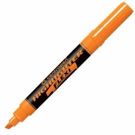 Текстовыделитель Centropen 8542/06 Flexi скошеный 1-4,6мм флюорисц оранжевый (гибкий наконечник)