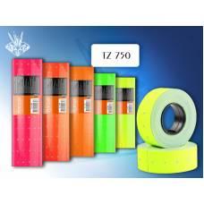 Ценники TM Tukzar TZ  750 750шт 5цветов в рулоне
