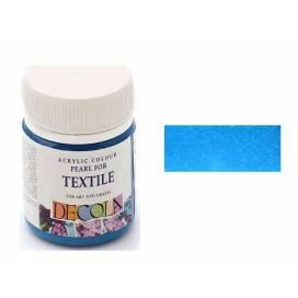 Краска Decola акриловая для ткани  50 мл  перламутр. Голубая