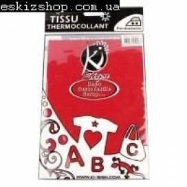Термонаклейка для ткани Ki-sign 2477 15*20см Красный велюр