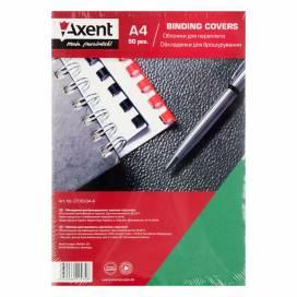 Обложка Axent A4 картон 250 мкм 2730-04-А под кожу зеленая 1лист
