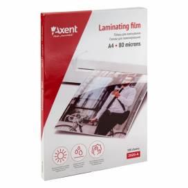 Пленка для ламинир. Axent формат А4  80 мкм 100шт 2020-A