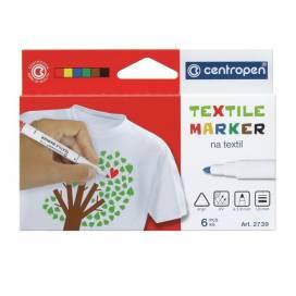 Набор маркеров по ткани Centropen 2739-6 2мм 6цв