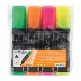 Набор маркеров текстовых Delta 4цв D2501-40