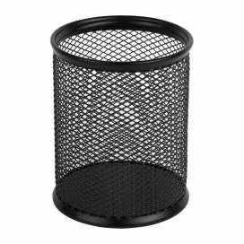 Подставка для ручек Axent метал круглая  2110 черная/серебр