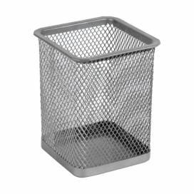 Подставка для ручек Axent метал квадрат  2111 черная/серебр