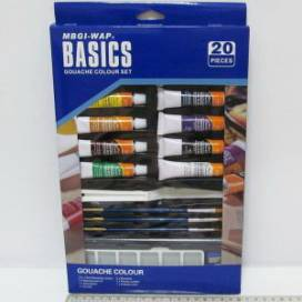 Набор гуашевых красок Josef Basics 12цв*12мл+кисти+палитра+мастихин+каранд.+точил.+ластик  ШК..2962