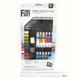 Набор акварельных красок Josef Otten 12цв х 12мл краска в ал. т+каранд.+кисти+ластик+точилк. NAW1231