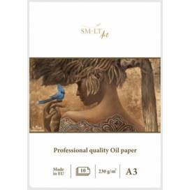 Альбом для масла и акрила Smiltainis Pro Create 230г/м A3 10л склейка белая льняная бумага ШК...7057