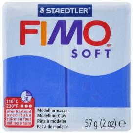 Глина полимерная FIMO Soft 57г 8020-33 синий блеск