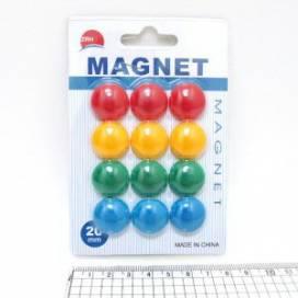 Магниты для доски Josef 20мм 12шт Colours 1570