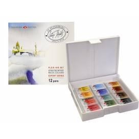 Набор акварельных красок ЗХК Белые Ночи 12 пленер ШК....9066