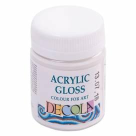 Краска акриловая для живописи и декора Decola 50мл глянц. белая