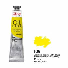 Краска масляная Rosa Gallery, 45мл 109 Кадмий желтый светлый