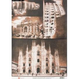 Бумага для декупажа Cheap-Art 30,8*44см 45г/м2 Вечный город