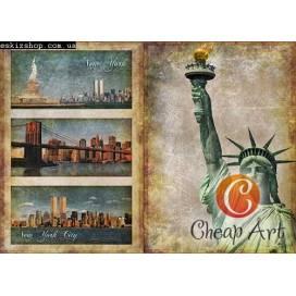 Бумага для декупажа Cheap-Art 30,8*44см 45г/м2 Манхеттен