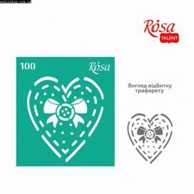 Трафарет Rosa Talent многораз самокл  9*10см 100 Love ШК....4757