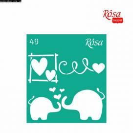 Трафарет Rosa Talent многораз самокл  9*10см 49 Love ШК....8472