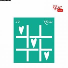 Трафарет Rosa Talent многораз самокл  9*10см 55 Love ШК....8533