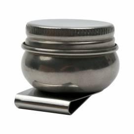 Маслёнка D.K.Art & Craft одинарная металлическая с крышкой (d:4,2см)
