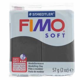 Глина полимерная FIMO Soft 57г 8020- 9 черный
