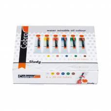 Набор масляных красок Royal Talens Cobra  6цв 20 мл водорастворимые