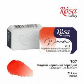 Краска акварельная Rosa Gallery 2,5мл в кювете 707 кадмий красный средний