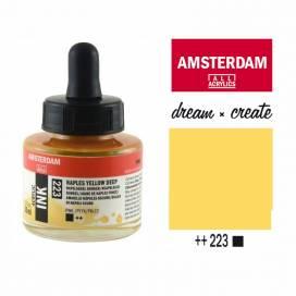 Тушь Royal Talens Amsterdam акриловая 30мл 223 Неаполітанський жовтий темний
