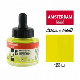 Тушь Royal Talens Amsterdam акриловая 30мл 256 Дзеркальний жовтий