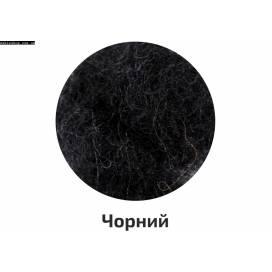 Шерсть для валяния кардочесанная Rosa Talent 40г Чорний