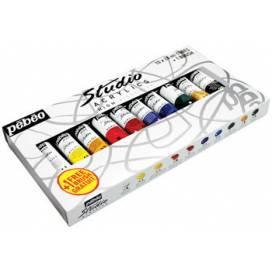 Набор фарб акрилових Pebeo Studio 10 кольорів 20мл + кисть P-833311