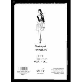 Альбом для маркерів Smiltainis Authentic 100г/м A5 40л спіраль білий папір ШК...8016