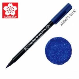 Маркер Sakura KOI Brush акварельный  № 36 голубой