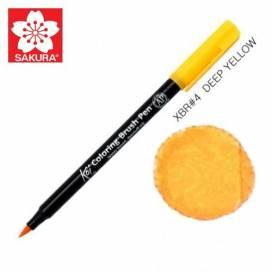 Маркер Sakura KOI Brush акварельный  №  4 желтый темный