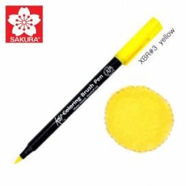Маркер Sakura KOI Brush акварельный  №  3 желтый